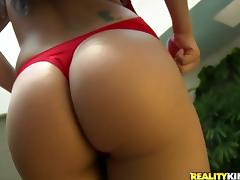 Delightful Barbarah rides massive dick in indoor pool