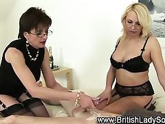 British femdom milfs threesome cumshot