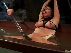 Ariel X gets tormented and fucked with a dildo in BDSM vid