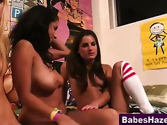 Real teen pledges pussy toying