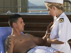 Early morning sex on the ship with Jaelyn Fox