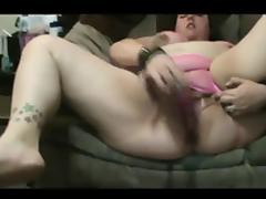 Horny Fat BBW friend masturbating her Wet Squirting Pussy