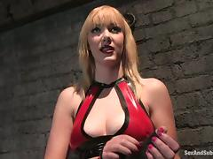 Charming blondie is enjoying some sadism in her vagina