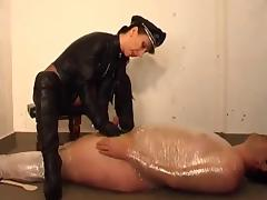 Dominatrix CBT handjob porn video