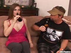 Drunk, Big Tits, Blowjob, Couple, Doggystyle, Drinking