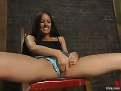 Pretty and Sexy Brunette Jamie Huxley Fucked Hard after Bondage