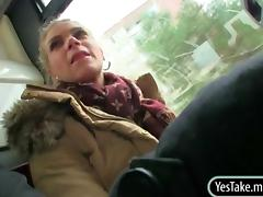 Adele met a horny stranger guy on a bus who she end up having sex porn video