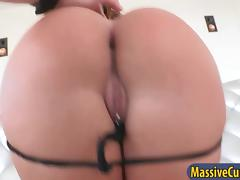 Bubble butt babe Jada Stevens blowjob and  deep anal pounding porn video