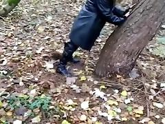 Having fun in woods