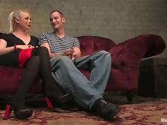 Lorelei Lee Rides His Dick after Torturing His Cock in Femdom BDSM porn video
