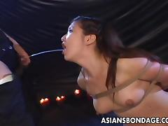 asian slut swallows piss