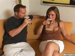 Horny milf APril offers a cup of coffee and then her pussy