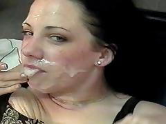Katheryn Marie's Face Glazed By Multiple Cocks