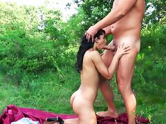 Hungarian babe slammed at the picnic