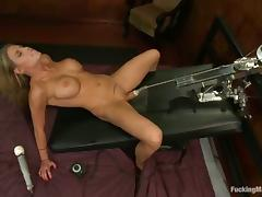 Charisma Cappelli cums two times while getting naughty with a sex machine