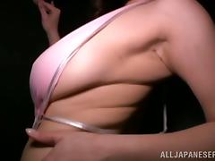 Japanense Chick Minami Ayase Blowjobs and Titjobs in POV Clip