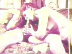 Cute blowjob in a hot retro clip porn video