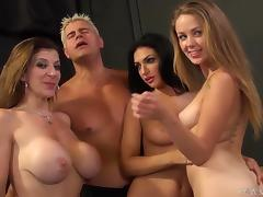 Amber Cox, Kimber Day and Sara Jay get fucked by a few handsome men