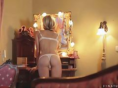 Exquisite Blonde Beauty Doris Ivy Masturbating in Hot Solo Video