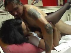 Bedroom, Bedroom, Blowjob, Ebony, Stockings