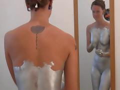 Silver Body Paint Sex and Solo-trailer