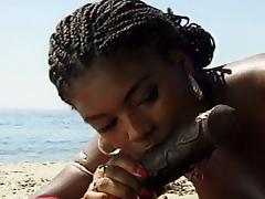Beach, Babe, Beach, Big Ass, Black, Ebony