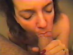 Amateur Oral Cream pie and Perfect Saggy Tits