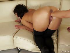 Two gorgeous brunette babes lick and fist pussies
