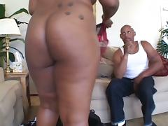 Beautiful Ebony BBW Sucking Hard Cock And Fucking Doggystyle