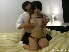 Riku Minato gets her pussy licked and fucked by an old dude