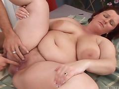 Creampie, Ass, BBW, Blowjob, Brunette, Chubby