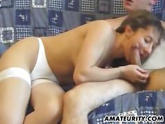 Amateur girlfriend anal with cum in mouth