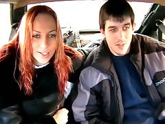 Young voyeur couple spied in fuck passion in taxi