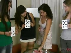 Strip Hgh Card with Asia Iris Tatiana and Berenika