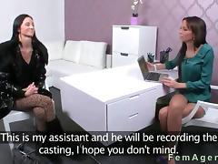 Audition, Amateur, Audition, Brunette, Casting, Fingering