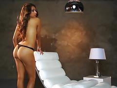 Mya Barrymore shows her tits and well-rounded ass at Playboy photo shoot porn video
