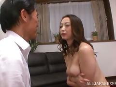 Outlander Japanese milf is loving him in alike poses