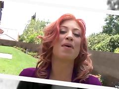 MILF Lucky Benton is a redhead who loves to fuck