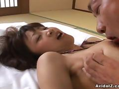 Japanese babe Ami Matsuda gets fingered Uncensored