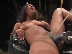 Marie Luv a difficulty slim ebony girl uses a difficulty having it away tool