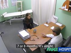 Sexy hotty prevalent generous breasts acquires doctors treatment previous in the air learning that babe can squirt