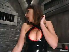 Hot unlit mistress tortures a challenge and toys his irritant porn video