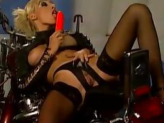 Hot chicks in stockings plus latex realize fucked by bikers