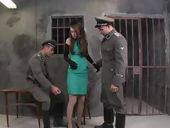 Army, Army, Blowjob, Facial, MMF, Prison