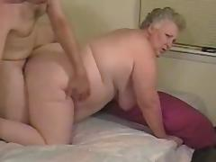 Amateur fat granny enjoys load of shit