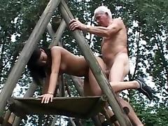 Old and Young, Blowjob, Brunette, Couple, Hardcore, HD