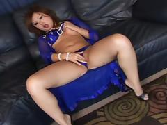 Banging Teena Toke-yo's Tight Shaved Asian Pussy for Cum in excess of Her Knockers