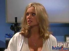 Curvaceous blondie gets her ass impaled