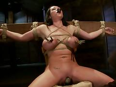 Chloe Reece Ryder Busty Battle-axe Gets Extremist Tit Torture in BDSM Coupling