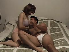 Suntanned milf gives freak coupled with enjoys multiposition sex in homemade team of two
